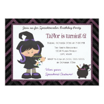 Witch costume Halloween Birthday Party Invitation