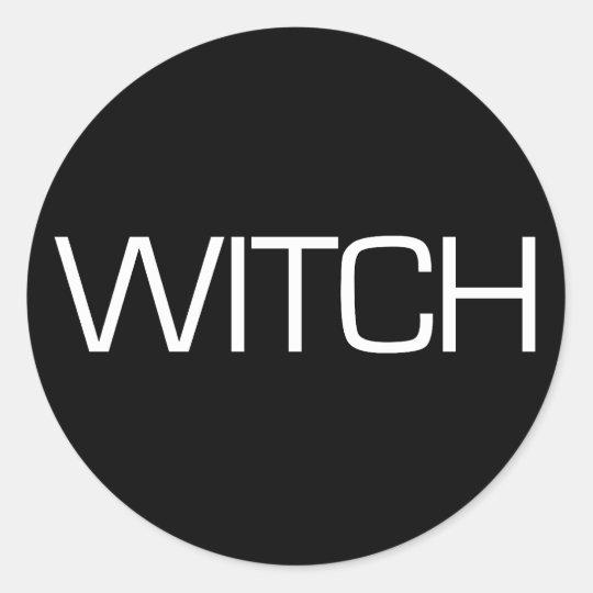 WITCH Decal Classic Round Sticker