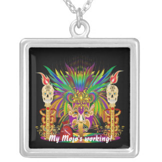 Witch Doctor Best view large View Notes Silver Plated Necklace