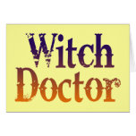 Witch Doctor Greeting Card