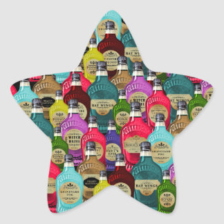 Witch Doctor Magic Potion Apothecary Tonic Bottles Star Sticker