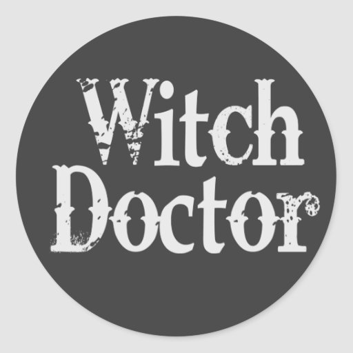 Witch Doctor Round Stickers