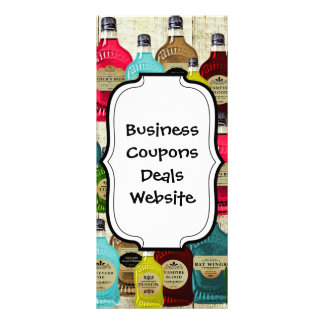 Witch Doctors Magic Potion Apothecary Tonic Bottle Rack Card