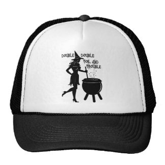 Witch Double Double Toil and Trouble Trucker Hat