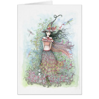 Witch Dragonfly Card by Molly Harrison