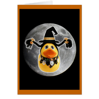 Witch Ducky Makes Moon Landing! Card