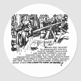 Witch Dunking Classic Round Sticker