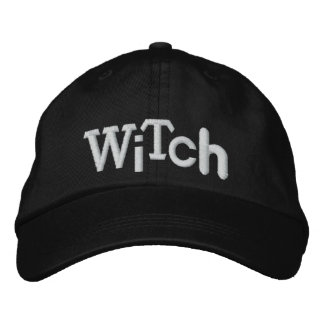 WITCH Eclectic Style Halloween Embroidery Hat