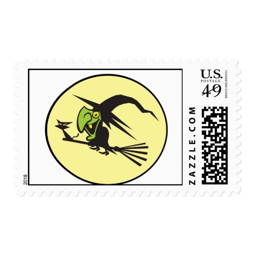 Witch  EEE POOO! Postage Stamp
