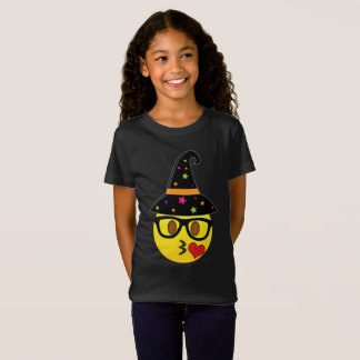 Witch Emoji Halloween T-Shirt for Girls