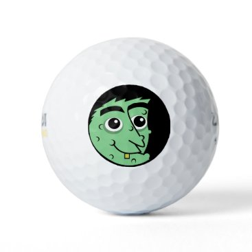 Halloween Themed Witch Face Golf Balls