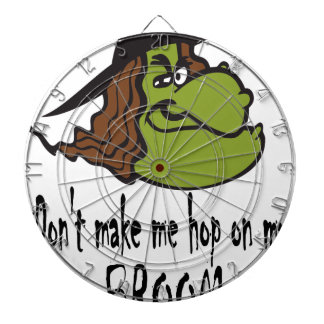 witch-face-hop on broom dart board