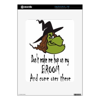 witch-face-hop on broom decals for the iPad