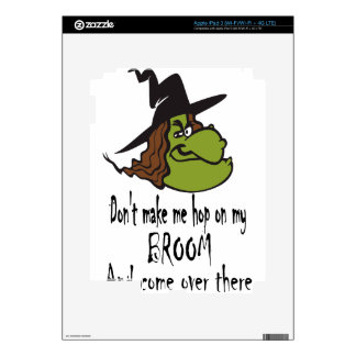 witch-face-hop on broom iPad 3 skins