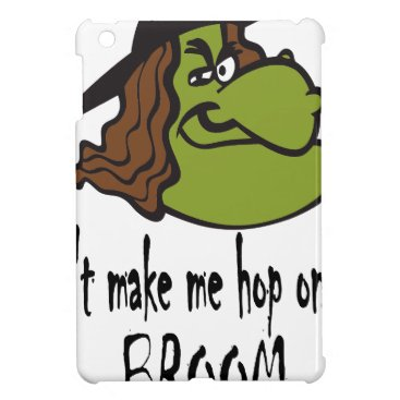 witch-face-hop on broom iPad mini covers
