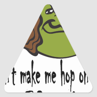 witch-face-hop on broom triangle sticker