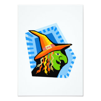 witch face personalized invites