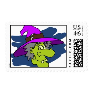 Witch Face stamp