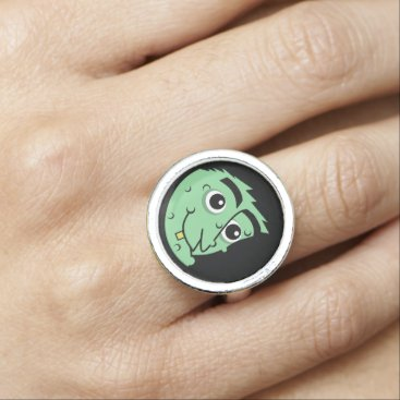 Halloween Themed Witch Face Rings