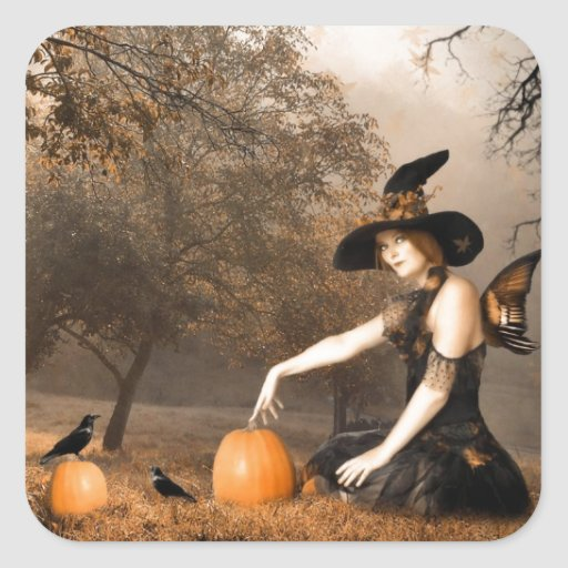 Witch Fairy Square Sticker