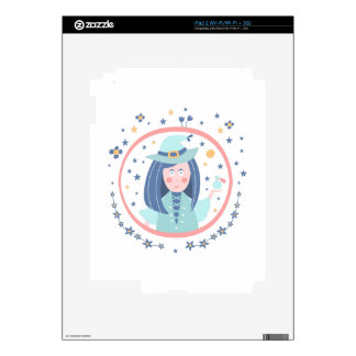 Witch Fairy Tale Character Decal For iPad 2