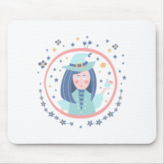 Witch Fairy Tale Character Mouse Pad