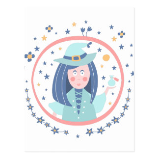 Witch Fairy Tale Character Postcard