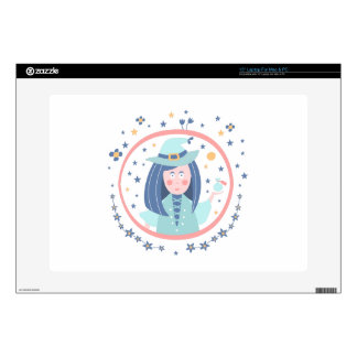 """Witch Fairy Tale Character Skins For 15"""" Laptops"""