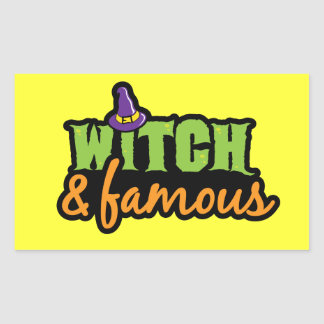 Witch & Famous Rectangle Sticker