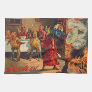 Witch Feeding Devils And Creatures Hand Towel