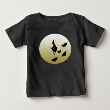Halloween Themed Witch flying baby T-Shirt
