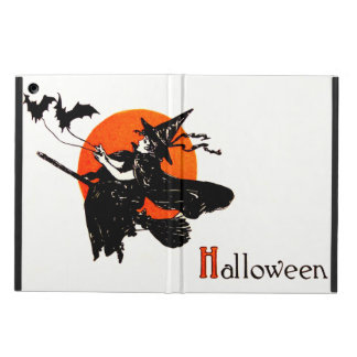 Witch Flying Broom Full Moon Bat Case For iPad Air