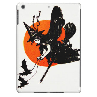 Witch Flying Broom Full Moon Bat Cover For iPad Air