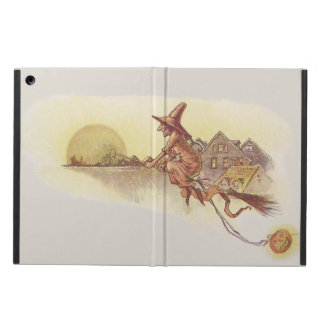 Witch Flying Broom Full Moon Jack O' Lantern Case For iPad Air
