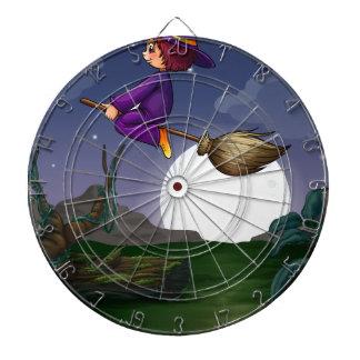 Witch flying dart board