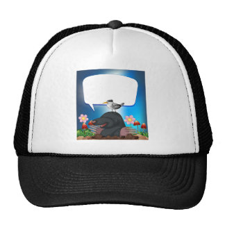 Witch flying trucker hat