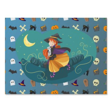 Witch for child lawn sign