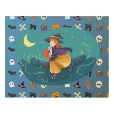 Halloween Themed Witch for child panel wall art