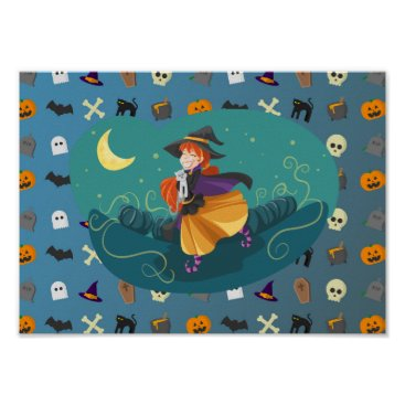 Halloween Themed Witch for child poster