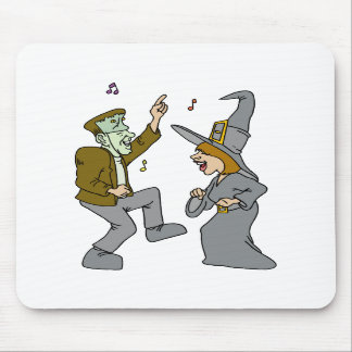 Witch Frankenstein Dancing Mouse Pad