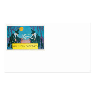 Witch Full Moon Cauldron Night Black Cat Business Card Template