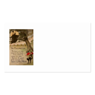 Witch Full Moon Pumpkin Black Cat Business Card