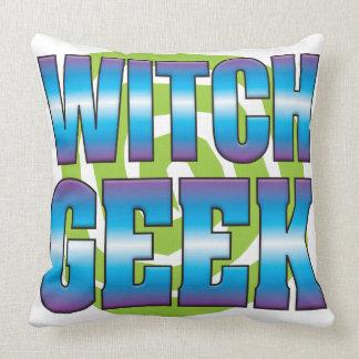 Witch Geek v3 Throw Pillows