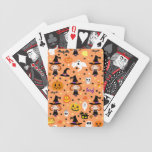 Witch Girl Halloween Pattern Bicycle Card Decks