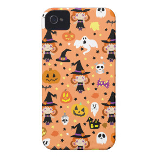 Witch Girl Halloween Pattern iPhone 4 Case-Mate Case