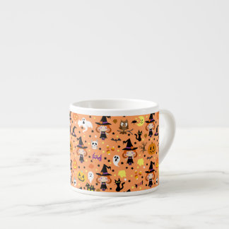 Witch Girl Halloween Pattern Espresso Cup