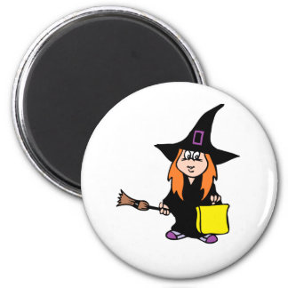 witch girl magnet