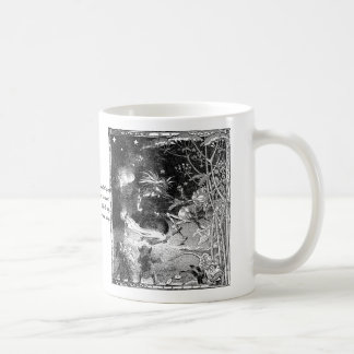 Witch, Gnomes and Fleeing Frog Coffee Mug