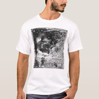 Witch, Gnomes and Fleeing Frog T-Shirt