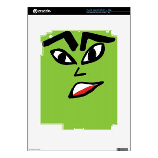 witch green face decal for iPad 2